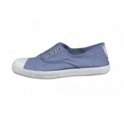 Lona azul jean elástico La Cadena