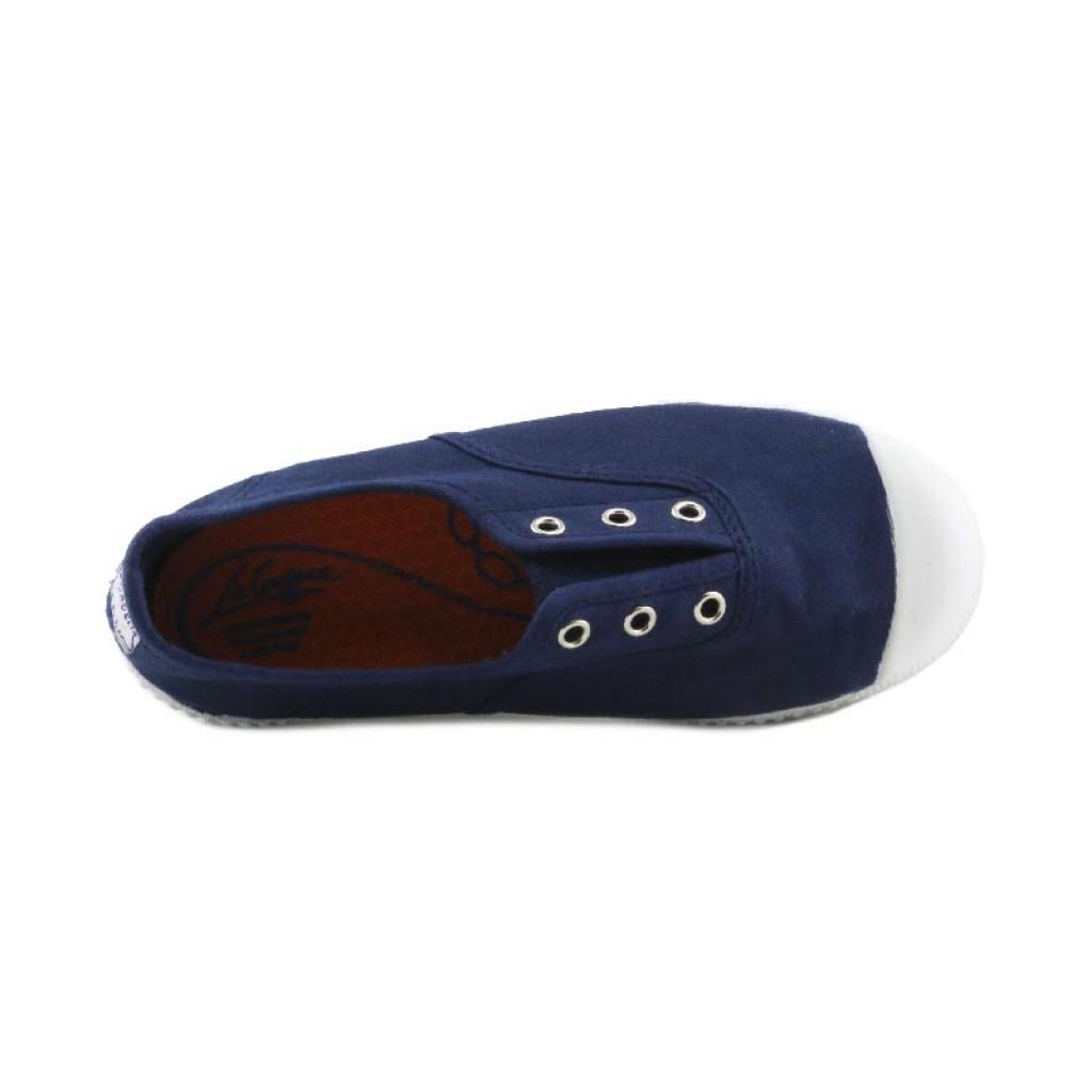 Lona azul elásticos sin hilos La Cadena