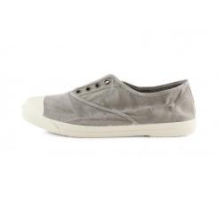 Lona gris claro lavado elástico y puntera Natural World