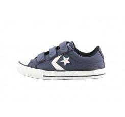 Zapatilla de lona azul/gris 3 velcros Converse