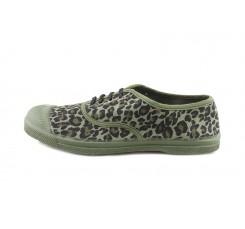 Lona kaki leopardo cordón Bensimon