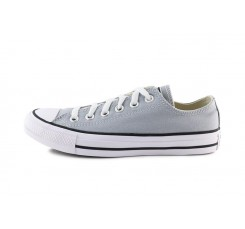 Zapatilla de lona gris claro con cordón Converse