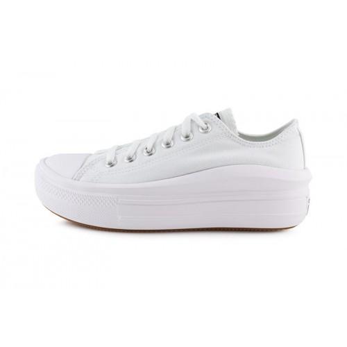 Zapatilla de lona blanca con plataforma en onda Move Converse