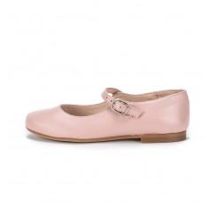 Salón piel rosa bailarina con pulsera y hebilla Jeromín