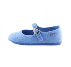 Mercedita lona azul jeans lavado La Cadena