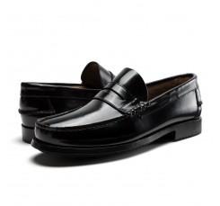Mocasín piel brillante negro 9300 Benson Shoes para Jeromín