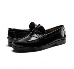 Mocasín piel brillante negro Benson Shoes para Jeromín