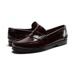 Mocasín piel brillante burdeos Benson Shoes para Jeromín