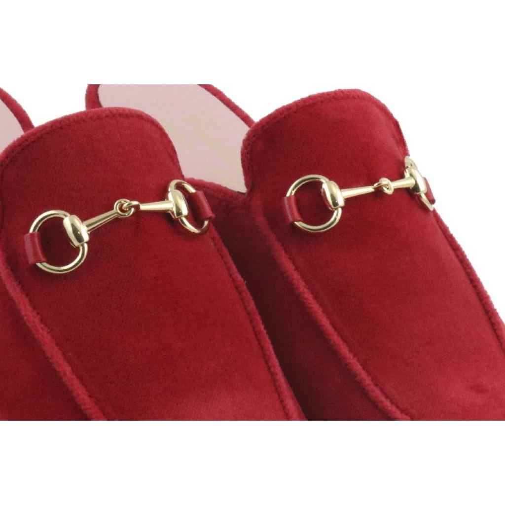 Zueco terciopelo rojo Castellanos 1920
