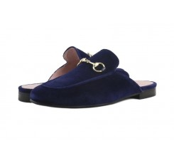 Zueco terciopelo azul Castellanos 1920