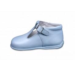 Sandalia bota celeste Petit Shoes
