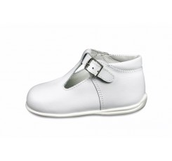 Sandalia bota blanco Petit Shoes