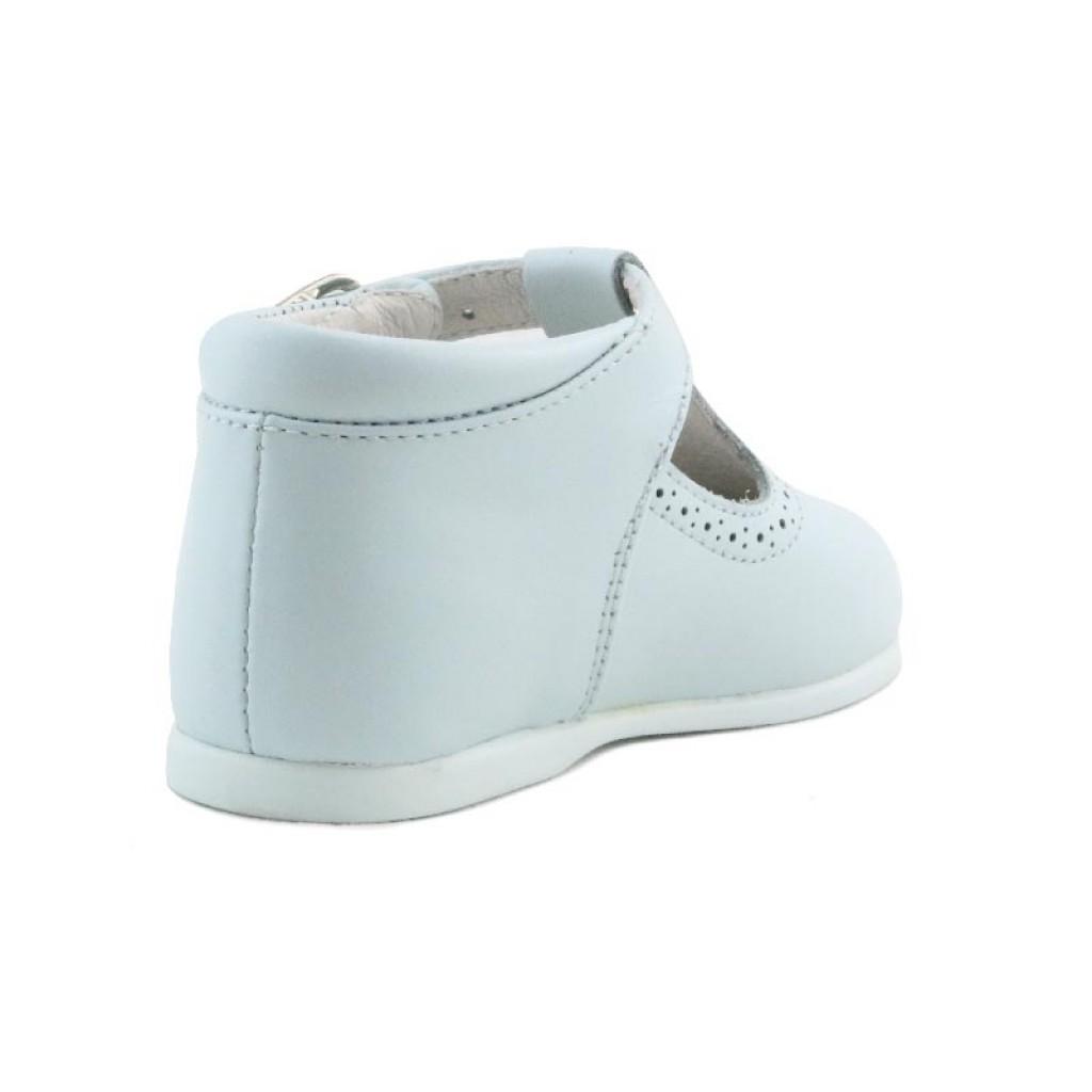 Sandalia bota piel celeste con hebilla Jeromin