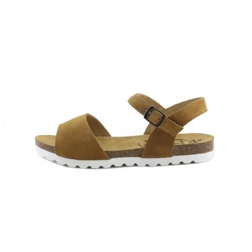 Sandalia ante cuero tira ancha Pepa & Cris