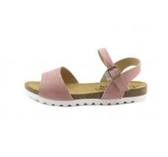 Sandalia ante rosa tira ancha Mon &Got para Pepa & Cris