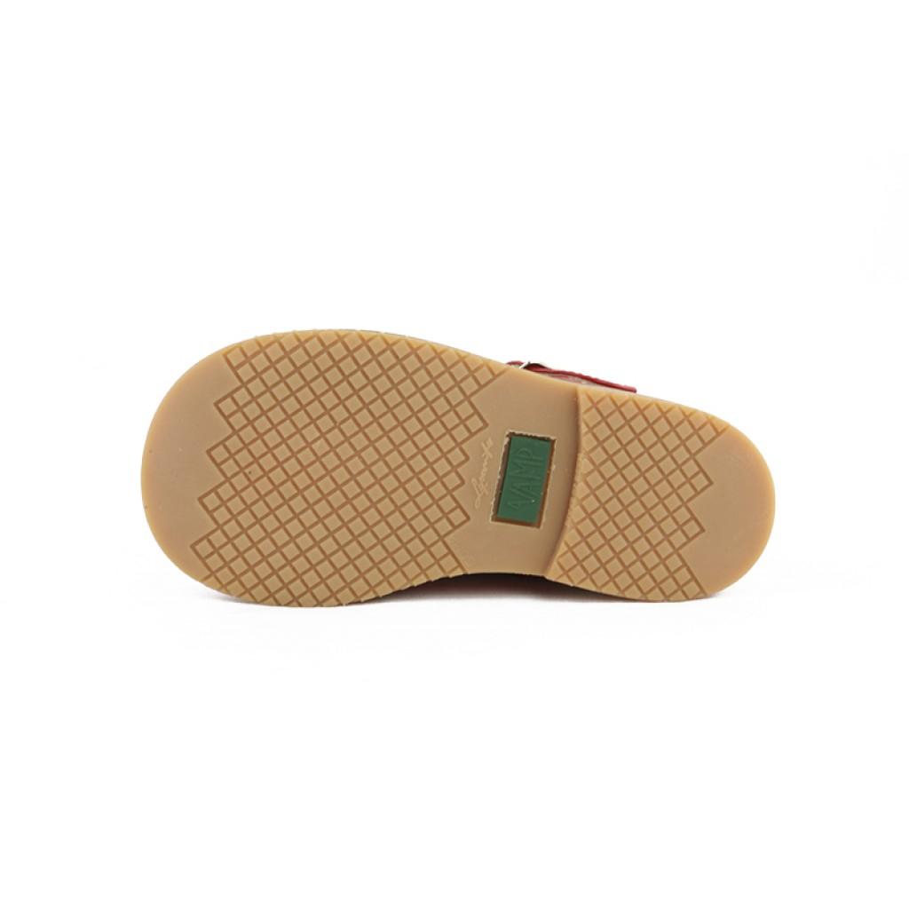 Sandalia piel roja hebilla Jeromín