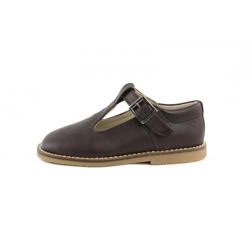 Sandalia piel marrón hebilla Jeromín