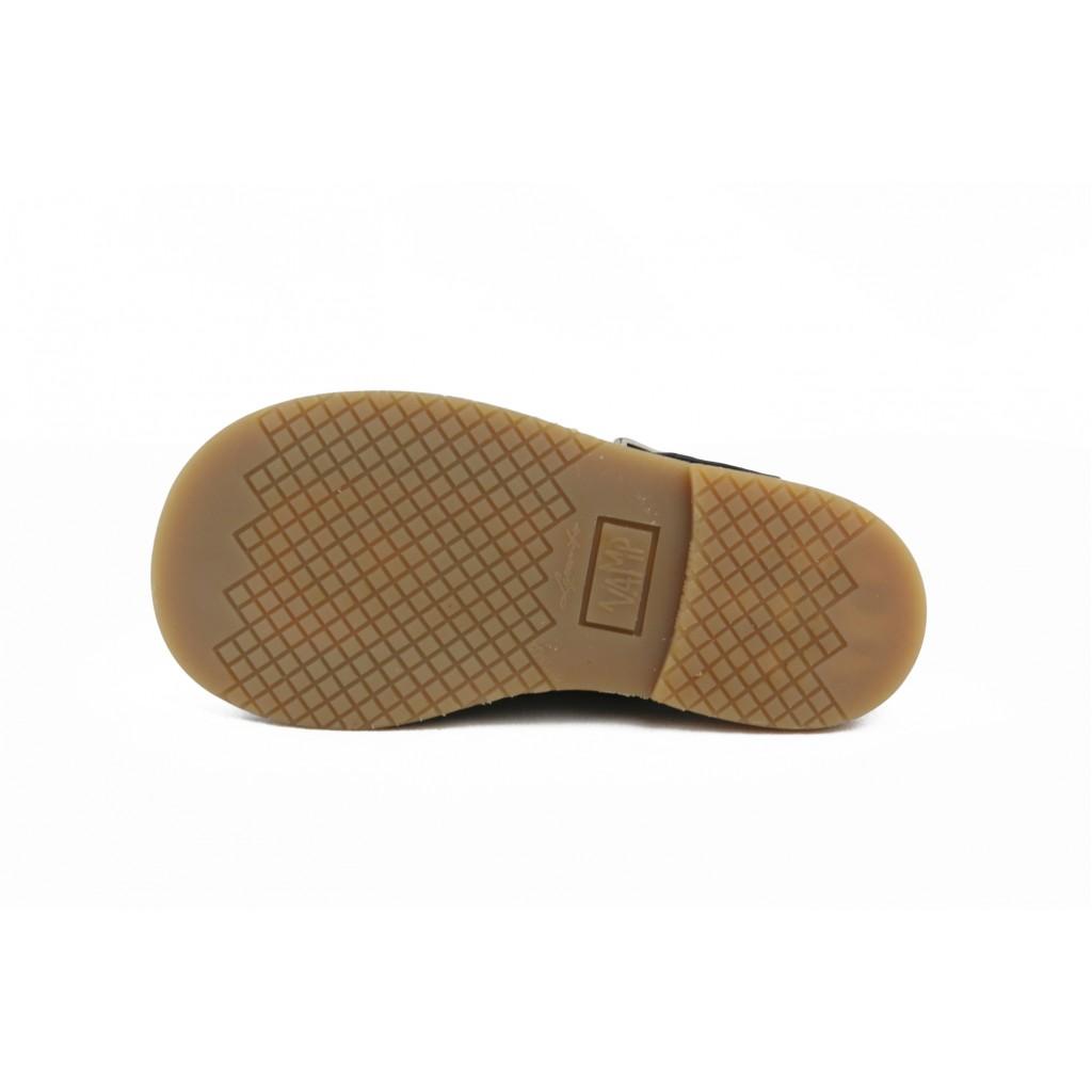 Sandalia piel azul con hebilla Jeromín