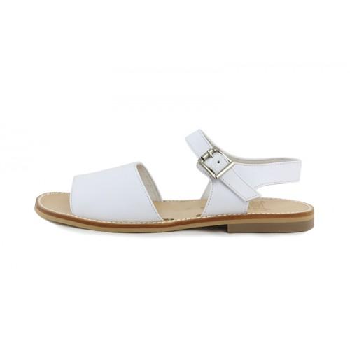 Sandalia frailera piel blanca Jeromín