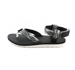 Sandalia de dedo blanca/negra con velcro Teva