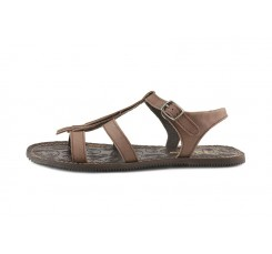 Sandalia nobuk marrón con flecos Jeromín