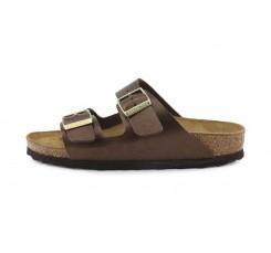Sandalia piel marrón claro con hebilla Arizona Birkenstock