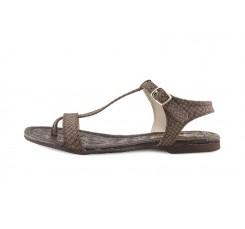 Sandalia piel serpiente marrón de dedo Balis Jeromin