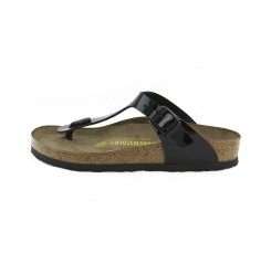 Sandalia de dedo charol negro Gizeh Birkenstock