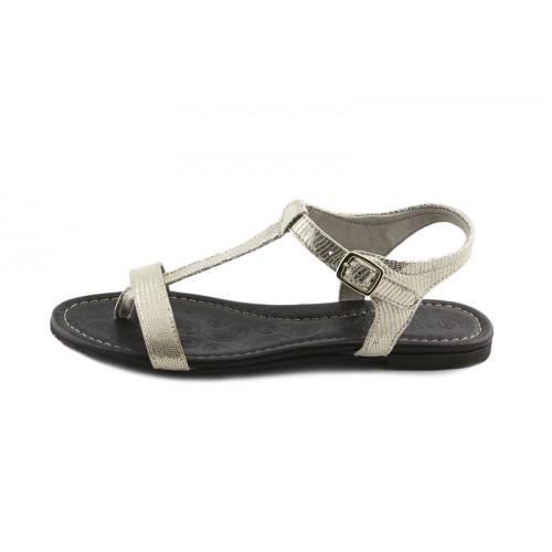 Sandalia piel platino Jeromín