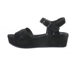 Sandalia ante negro plataforma baja Pepa y Cris