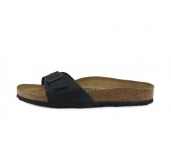 Sandalia piel negro Madrid Birkenstock