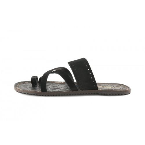 Sandalia dedo ante negro Jeromin