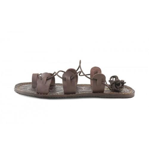 Sandalia romana piel marrón Pepa Jeromin