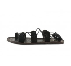 Sandalia romana ante negro Pepa Jeromin