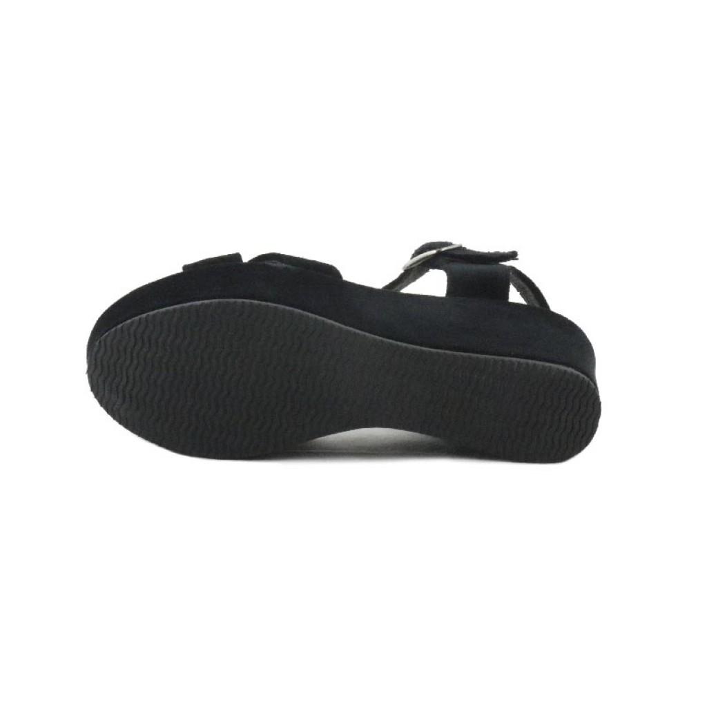 Sandalia terciopelo negro plataforma Pepa y Cris