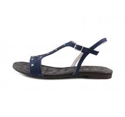 Sandalia ante azulón oscuro con tachuelas Jeromín