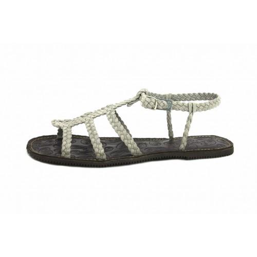 Sandalia trenzada ante gris claro Jeromín