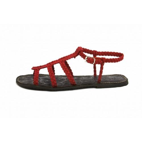 Sandalia trenzada ante roja Jeromín