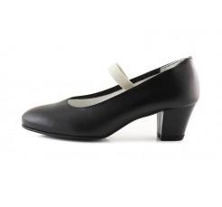 Zapato de flamenco en piel negro De Flamenca para Pepa&Cris