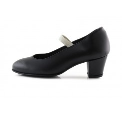 Zapato de flamenco en piel negro con tacón de clavos De Flamenca para Pepa&Cris