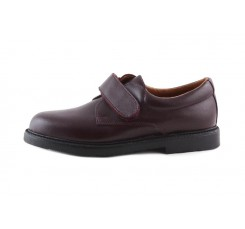 Zapato velcro piel burdeos 131 Jeromín