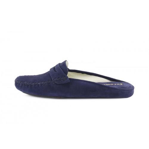 Zapatilla chinela para casa ante azul Jeromin
