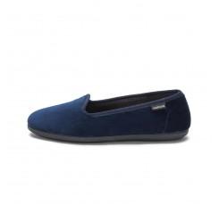 Zapatilla copete en terciopelo azul 104911 Victoria