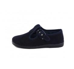 sandalia para casa pana azul Vul-Ladi