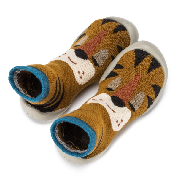 Zapatilla para casa calcetín con tigre Collegien