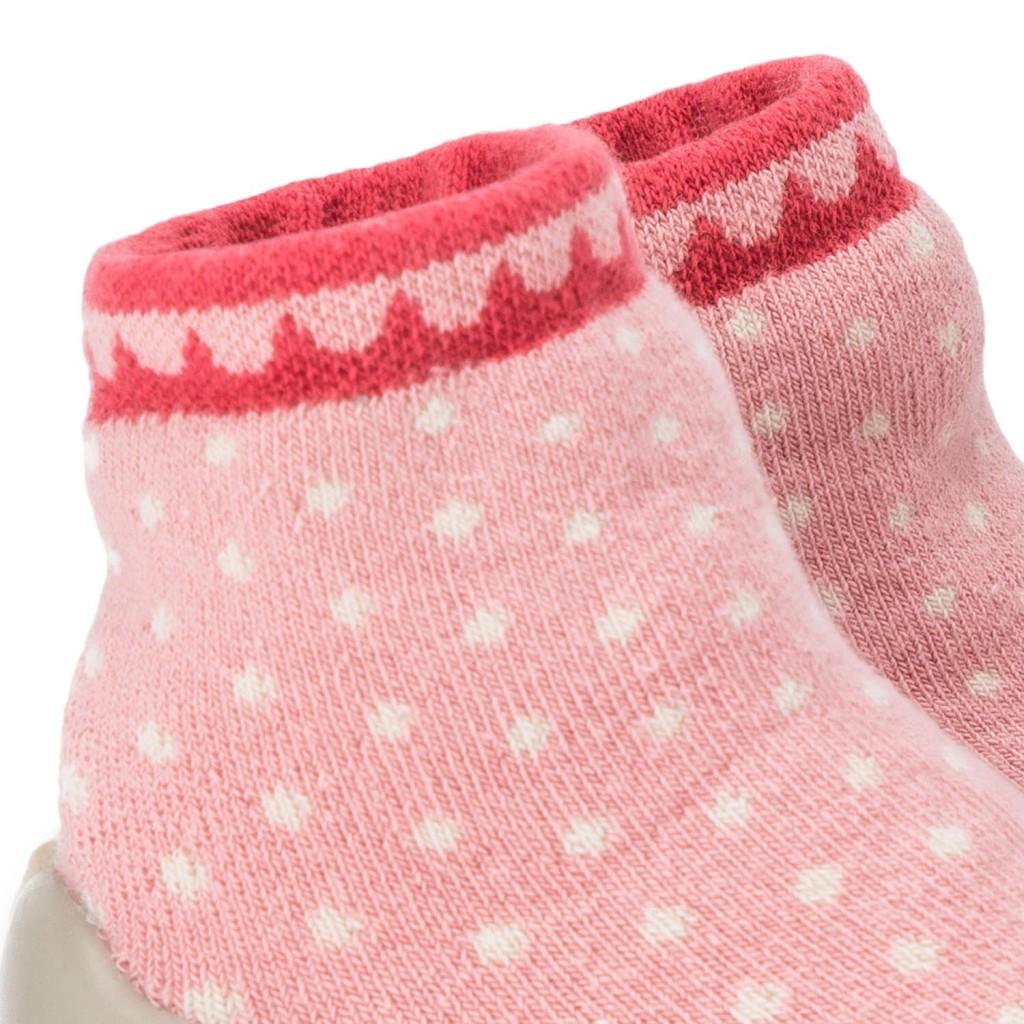 Zapatilla para casa calcetín perlas blanca/rosa Collegien