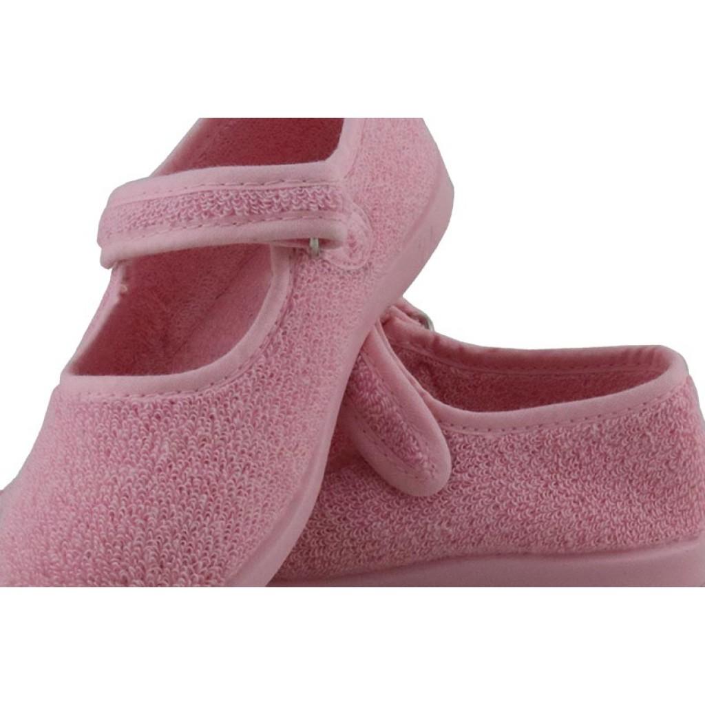 Mercedita para casa de felpa rosa con velcro Vul-Ladi