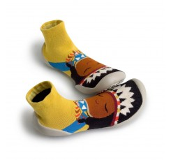 Zapatillas para casa calcetin amarillo Collegien India