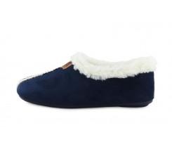 Zapatilla para casa forrada en color azul Norteñas