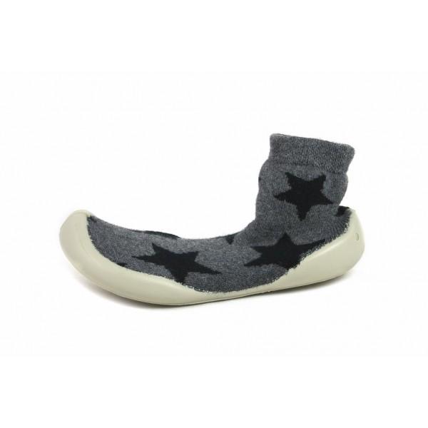 Zapatilla para casa calcetín gris con estrellas Collegien